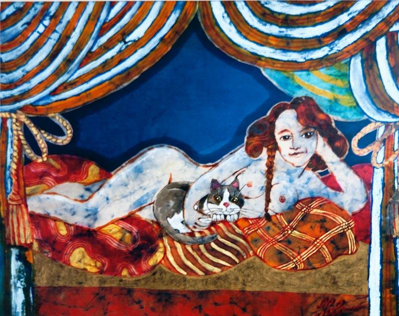 Yolanda Zerboni, Bastet (2011) – Tecnica mista su stoffa
