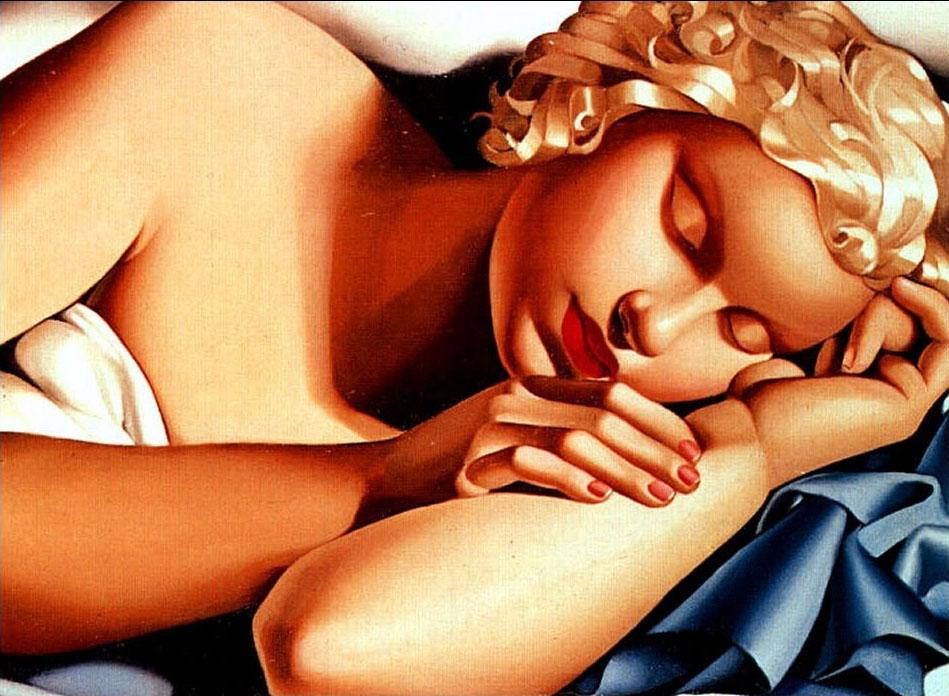 Tamara De Lempicka, Donna che dorme (1935)