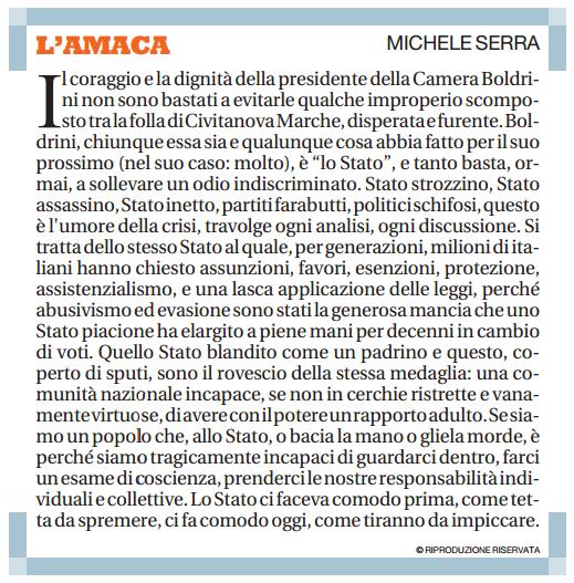 L Amaca di Michele Serra