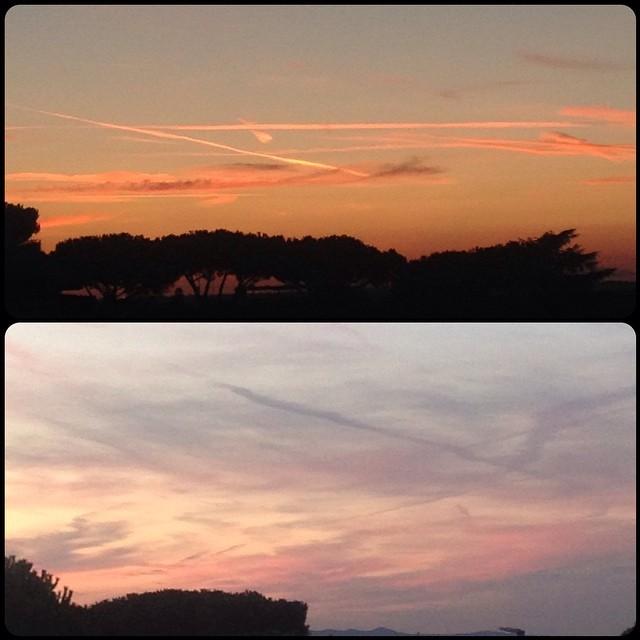 Il cielo ora: pennellate di un pittore impreciso…#nofilter #tramontiromani