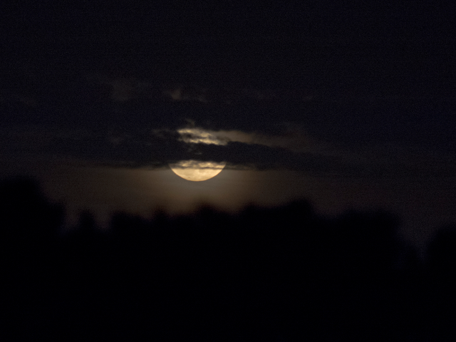 Quanto è grande la luna quando sorge